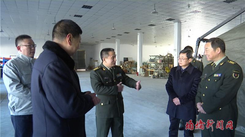 宿州军分区司令员谢勇赴鸿正服装服饰有限责任公司进行调研观摩活动1.png